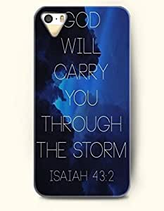 OOFIT Stylish God Will Carry You Through The Strom Isaiah 43:2 Pattern Case for iPhone 4 4S -- Bible Quotes Series by icecream design