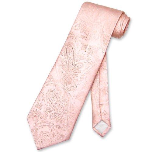 Vesuvio Napoli NeckTie PEACH Color Paisley Design Men's Neck Tie