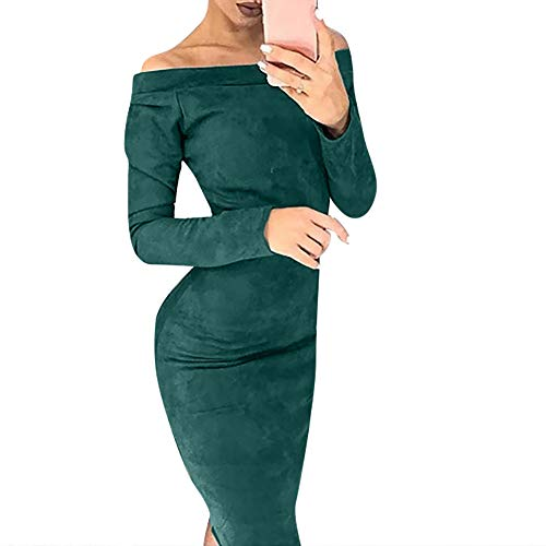Disney Dress Up Clothes for Little Girls,Fashion Women Huge Suede Long Sleeve Solid Off Shouder Bodycon Party Dress,Jumpsuits, Rompers & Overalls,Green,M by AMSKY
