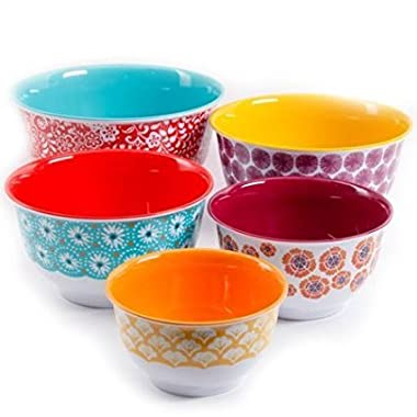 The Pioneer Woman Traveling Vines Nesting Mixing Bowl Set, 10-Piece