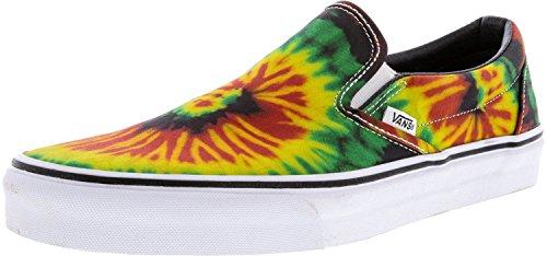 Vans Men's Classic Slip-On Tie Dye Rasta/Multi Ankle-High Canvas Skateboarding Shoe - 11M