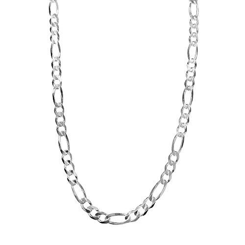 9mm Silver Figaro Chain - 4