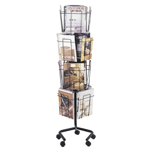 SAF4139CH - Safco Rotary Floor Display Rack (Safco Wire Literature Display Floor)