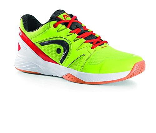 HEAD Men Nitro Team Squash Shoes Yellow (Neon Yellow/Flame Nyfl)