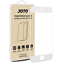 iPhone 6S 6 Screen Protector, JOTO Full Screen Tempered Glass Screen Protector Film, Edge to Edge Screen Film Guard Saver for Apple iPhone 6S / 6 4.7-Inch (1 Pack, Clear/White)