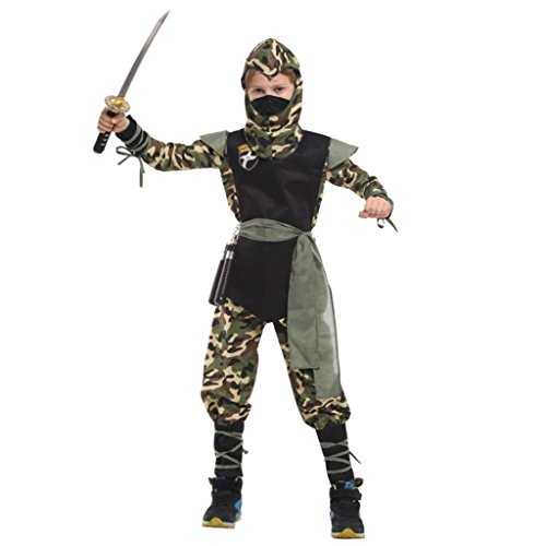 Shanghai Story Children's Camouflage Forces Ninja Costume Boy's Clothes Set M]()