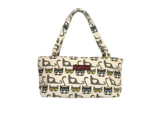Bungalow360 Vegan Cotton Canvas Mini Bag Cats