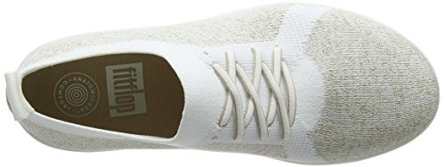 Multicolour F 566 Femme Baskets Sneakers White sporty Gold urban Uberknit Fitflop metallic metallic gZOqZA