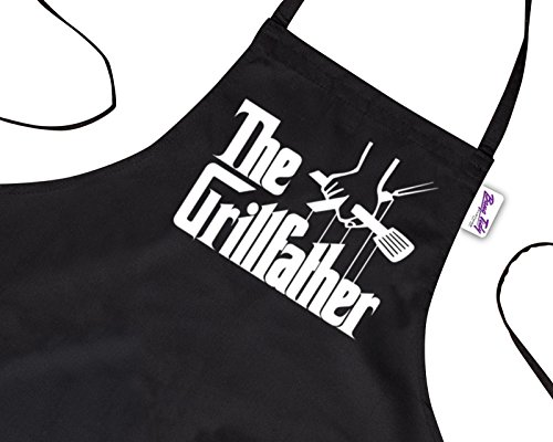 4d1d4251a1a BBQ Apron Funny Grill Aprons for Men The Grillfather Men s Grilling Gifts  Black