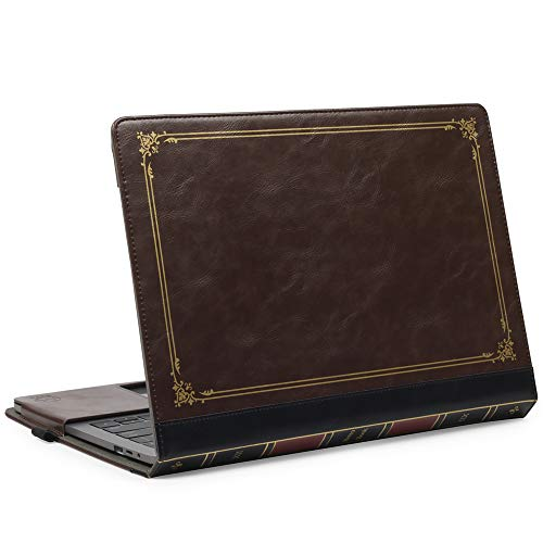 """TYTX MacBook Air Leather Case 13 Inch 2020 2019 2018 (A2337 A2179 A1932) Protective BookBook Folio Cover (New MacBook Air 13"""", Brown)"""