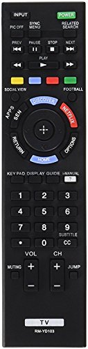 Soulmark Universal LCD LED TV Remote Control RM-YD103 Replacement for SONY TV Remote Bravia RM-YD 3D Television