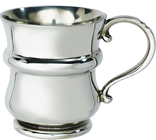 Pewter Christening Cup - iLuv Christening Gift Plain Tankard 1/4 Pint Scottish Thistle Shaped Baby Mug Pewter Cup Engraving Available