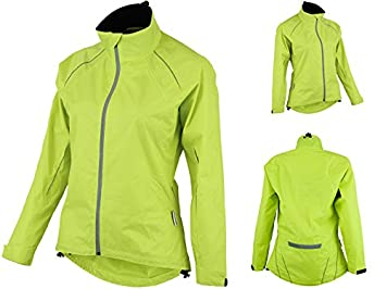 ProAthletica Womens Cycling Running Rain Jacket High Visibility Breathable  Wind Waterproof (Fluorescent Yellow 41f33bb1d