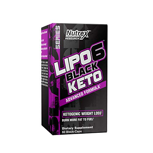Nutrex Research Lipo-6 Keto | Ketogenic Weight Loss Support | goBHB Salts, Carnitine, Apple Cider Vinegar, Choline Bitartrate | 60 Count