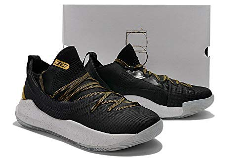 06d4a237d2f95 UnderArmour UA Curry 5 Championship Pack Black Gold Men s Basketball Shoes   Buy Online at Low Prices in India - Amazon.in