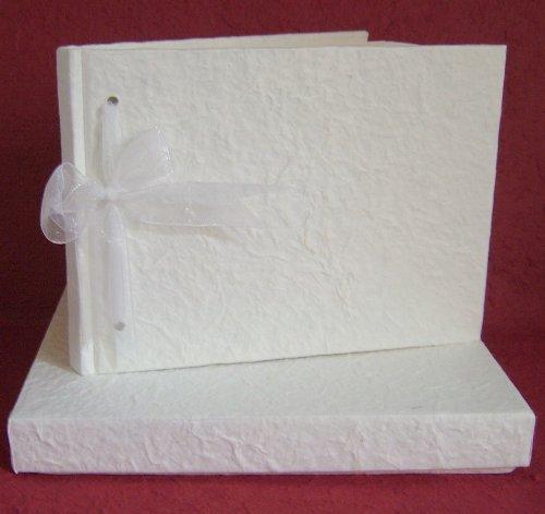 Plain Wedding Guest Book Handmade Mulberry Guest Book Ready to