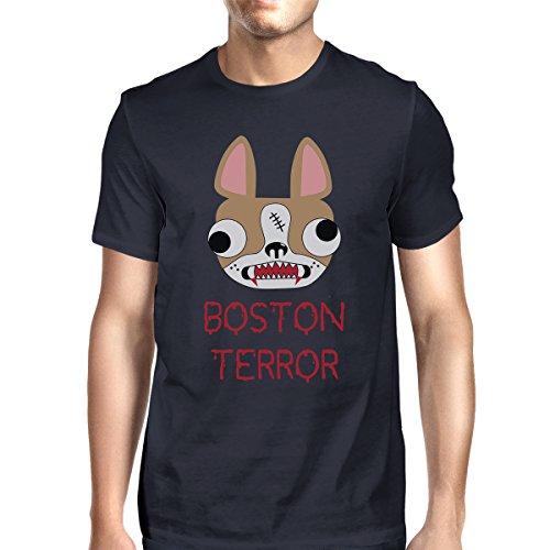 Courtes Printing 365 Terrier Manches Navy Unique T Boston Taille Homme shirt Terror rgrdqFIw
