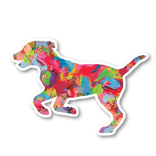 Dog Running Sticker Watercolor Paint Stickers - Laptop Stickers - 2.5