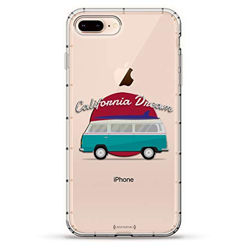 Amazon.com: LIFESTYLE: VW Bus California Dreams | Luxendary Air Series Clear Silicone Case with 3D Printed Design and Air-Pocket Cushion Bumper for iPhone ...