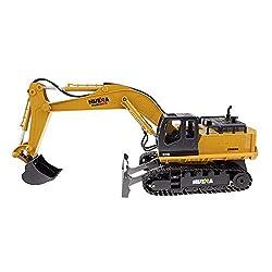 RC Truck 11CH Excavator Alloy 2.4G Backhoes Bulldo