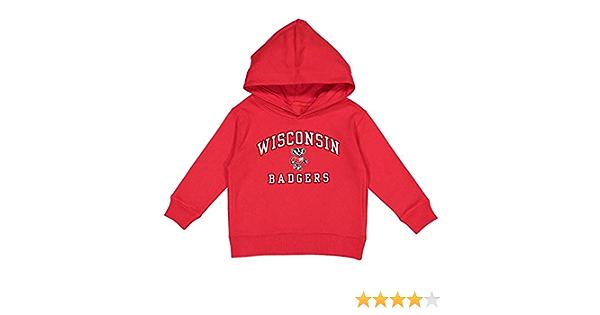 NCAA Kids Wisconsin Badgers Performance Hoodie Red