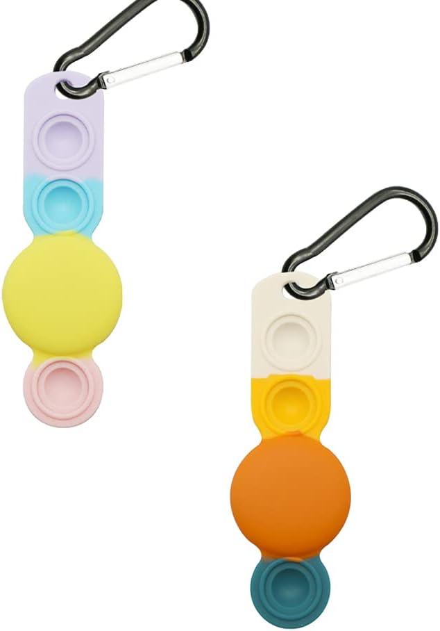 Funda pop it para Apple Airtag (Pack de 2, multicolor)