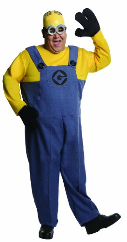 Despicable Me 2 Costumes For Adults (Rubie's Costume Plus-Size Despicable Me 2 Dave Minion, Multicolor, Plus Costume)