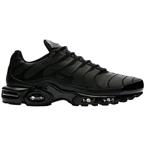 NIKE Men's Air Max Plus Black/Black/Black Synthetic Running Shoes 8.5 D(M) US