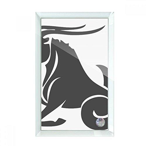 beatChong Constellation Capricorn Zodiac Sign Desktop Crystal Art Painting Glass Artwork Decoration (Capricorn Art Glass)