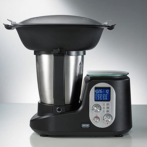 Beem Thermostar Mix & Cook - Robot de cocina, LCD, 1200 W, 2 l, bascula, color plateado y negro: Amazon.es: Hogar