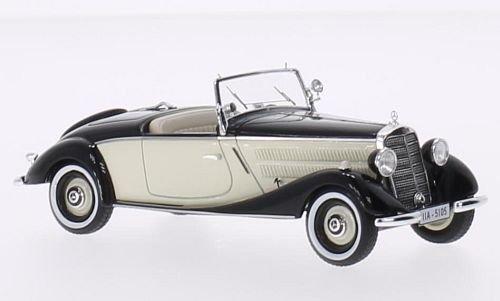 Mercedes 170V Roadster, schwarz beige, 1936, Modellauto, Fertigmodell, Neo 1 43