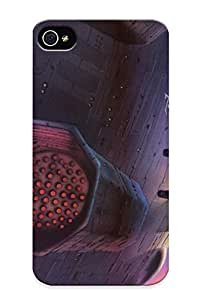 Outer Space Futuristic Retro Concept Art Science Fiction Drawings Abstract Spaceship Case Compatible With Iphone 4/4s/ Hot Protection Case(best Gift Choice For Lovers)