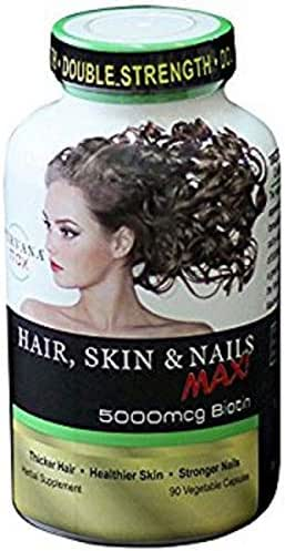 Purvana MAX by Wellgenix 5000mcg Hair Skin and Nails 90 veggie capsules