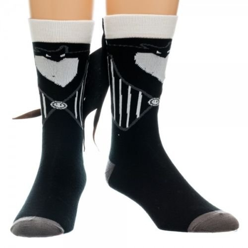 NIGHTMARE BEFORE CHRISTMAS JACK SKELLINGTON CREW SOCKS WITH SUIT TUXTAILS