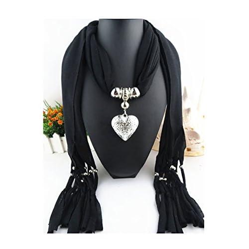 En Écharpe Châle Pour Pendentif Cœur De Forme Love Jelinda Glands YvIy67bfmg