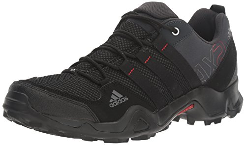 adidas outdoor Men's AX2 Hiking Shoe Dark Shale/Black/Light Scarlet 10.5 M US