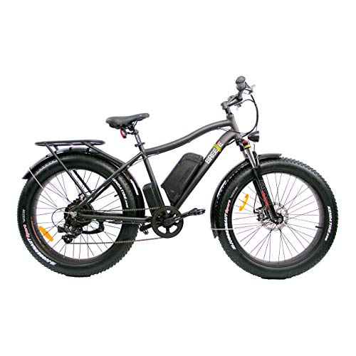 Fat Tire Electric Bike SAFECASTLE BREEZE PRO 750W Beach Snow Bicycle 26″ 4.0inch Fat Tire ebike 48V/11.6Ah Electric Mountain Bicycle,electric bike for adults,Shimano 7Speeds Li-Ion Battery-19″ Black