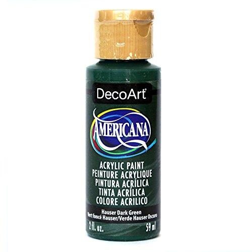 Acrylic Paint Green Dark - DecoArt Americana Acrylic Paint, 2-Ounce, Hauser Dark Green