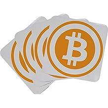 Set of Four Bitcoin Logo Cork Backed Coasters