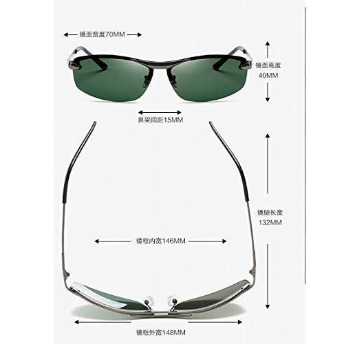 Espejo Moda Gafas Gris Gun Gafas de de Sol los de film de de Pieza green de Marco Oro de polarizadas Gafas Sol Sol Burenqiq Hombres frame dark Retro la polarizadas conducción Pq4daPw