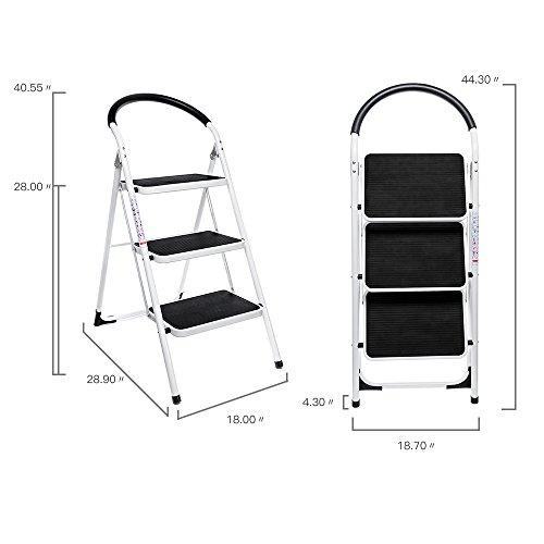 Delxo Step Ladder Folding Step Stool Lightweight