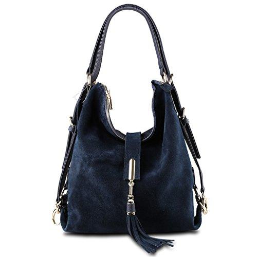 Firstider Blue Messenger Suede Bag Nubuck Eisure Women Hobo Navy Shoulder Handbag Leather rPgwrzq
