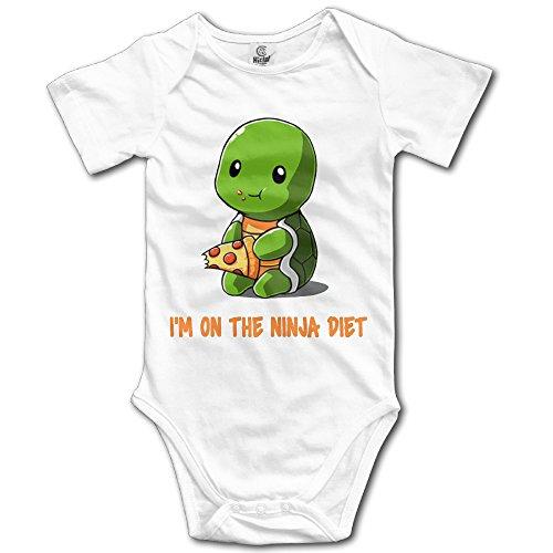 YEARla Unisex Turtles I'm On The Ninja Diet Baby Rompers Baby Onesie Short Slev ()