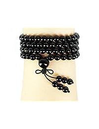 jennysun2010 Handmade Multi-Purpose Natural 6mm Gemstone Buddhist 108 Beads Prayer Mala Stretchy Bracelet Necklace Healing