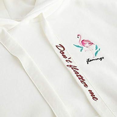 Amazon.com: Autumn Winter Sweatshirts Women Flamingo Embroidery Casual Fashion Hearts Hoodies: Clothing