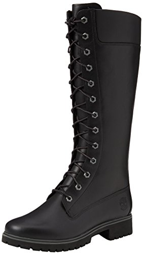 14 Women's smooth Black Side Timberland Boot Lace WP Up Zip Inch 5fwwO