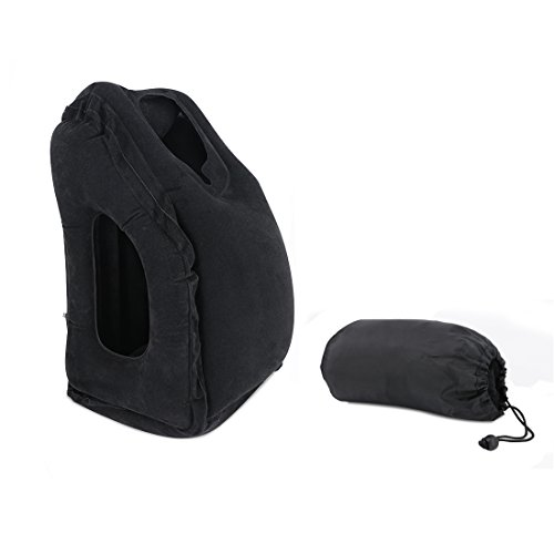 Travel Pillow for Airplanes Self Inflating Travel Neck Pillow Ultralight Ergonomic Portable Multifunctional Blow Up Napping Pillow Inflatable for Plane, Car, Trains, Office, Camping