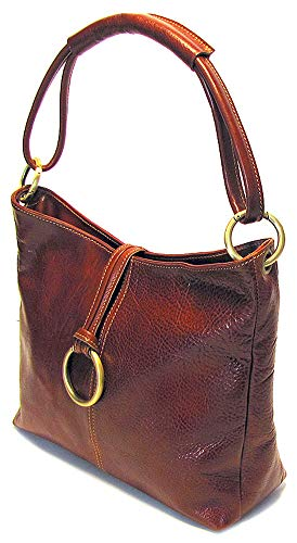 Floto Tavoli Tote, Leather Handbag in Vecchio Brown