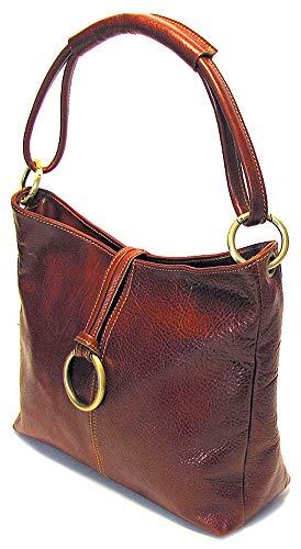 - Floto Tavoli Tote, Leather Handbag in Vecchio Brown