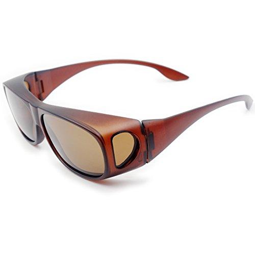 Normales Sobre sol Gafas Gafas y Hombre Colocar Mujer Lectura polarizadas Para de UV400 de deportivas las de Gafas Brown Sol 5vXqxOwR7